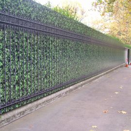 Digitally Printed Hedge & Railings Hoarding Panels