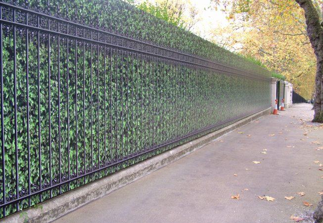 Digitally Printed Hedge & Railings Hoarding Panels
