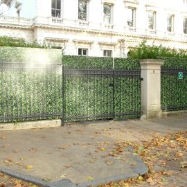 Hoardings in Kensington Palace Gardens London