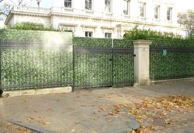 Hoardings in Kensington Palace Gardens London