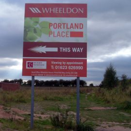 Site Sign – Post & Board