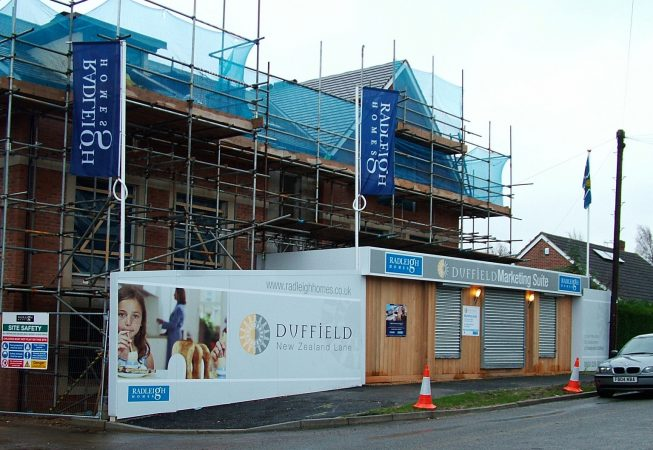 Challenging Levels helped to make this Hoarding Design stand out