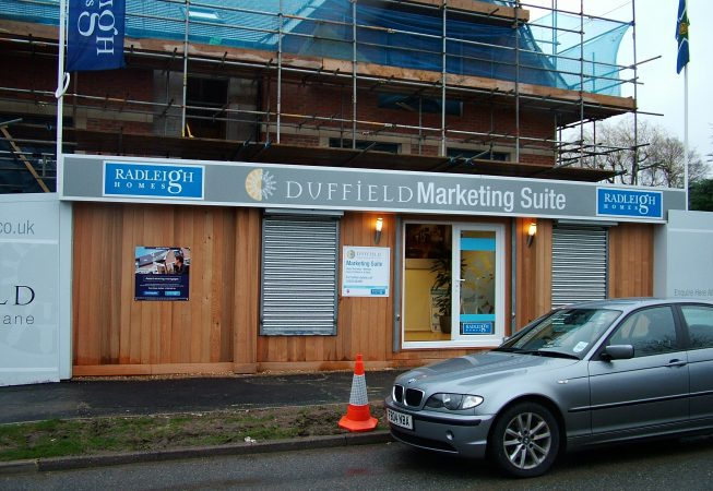 Marketing Suite combined with Construction Site Hoardings