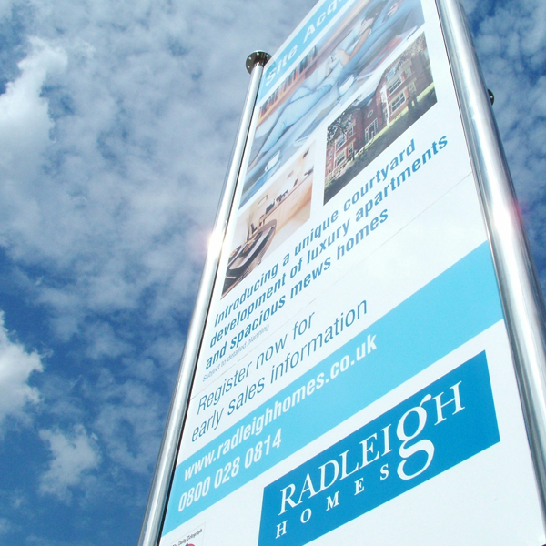 A striking Stacker Sign for a Development of Luxury Apartments